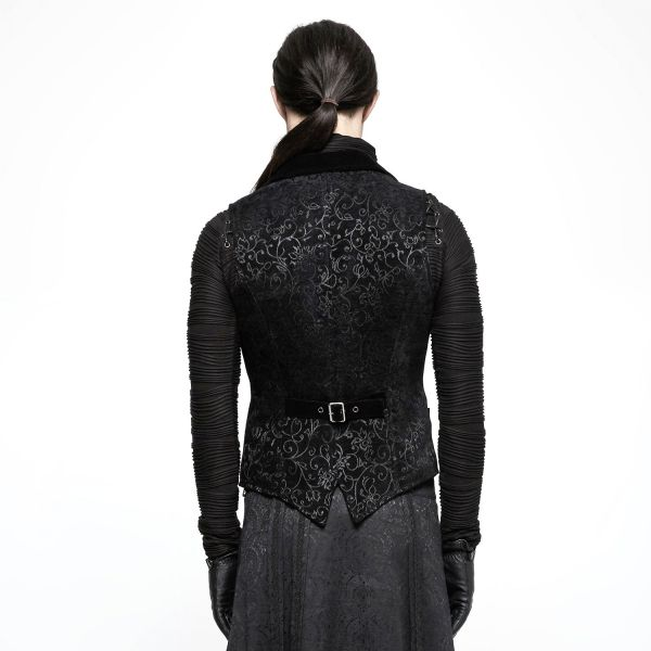 Viktorianische Weste in schwarzer Broakt Optik