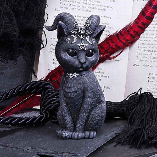 Baphomet Katze Figur mit mystischen Symbolen