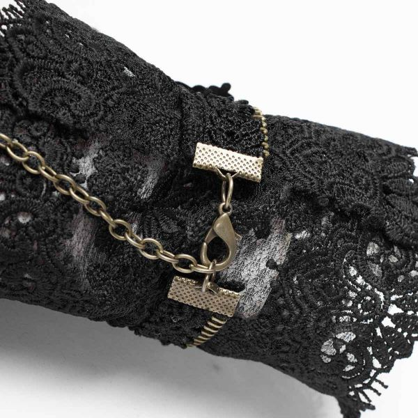 Steampunk Häkelspitze Handschuhe mit Zahnrädern