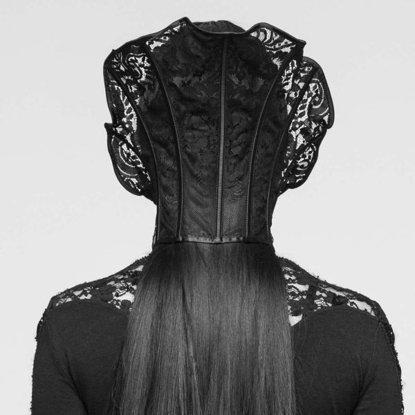 Viktorianischer Stehkragen aus Spitze mit Schnürung