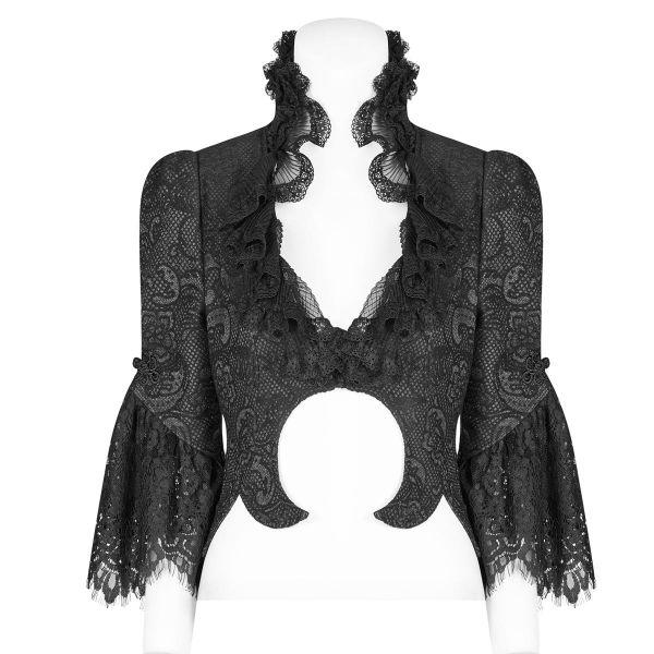 Viktorianischer Bolero mit Sichelmond und Schößchen