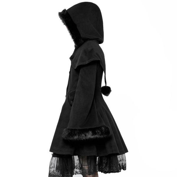 Gothic Lolita Glockenmantel mit Cape und Kapuze