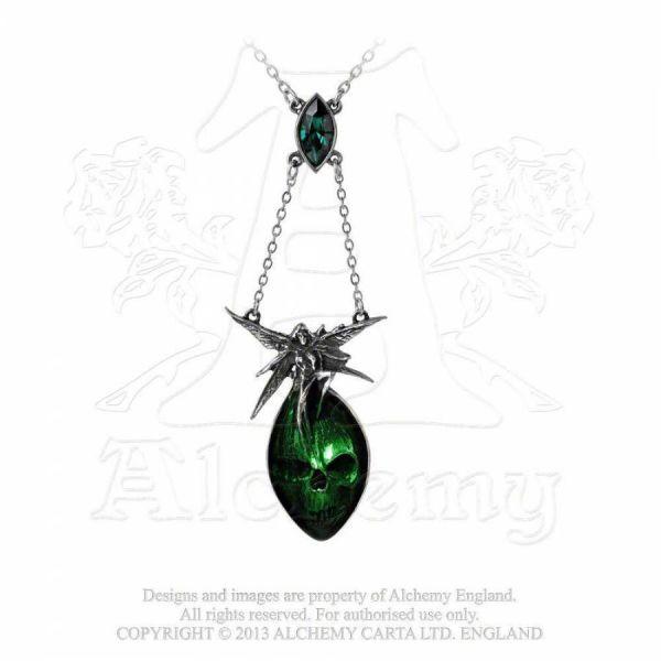Mystische Kette mit Totenschädel - Absinthe Fairy