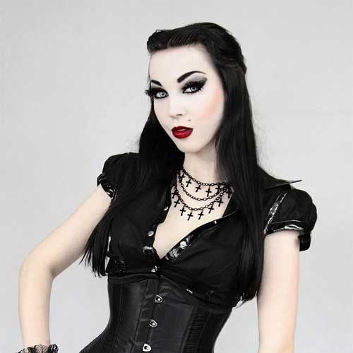 Gothic Collier - Black Cross Chains