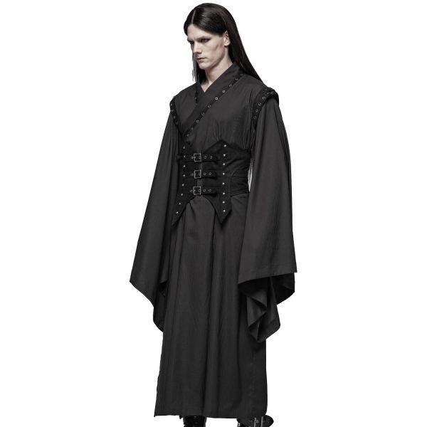 Dark Samurai Kimono im Gothic Style mit Taillengürtel