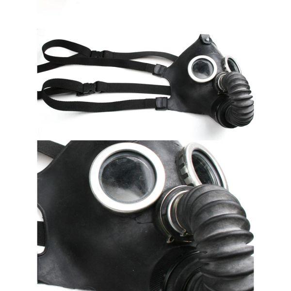 Cyber Goth Fetisch Harness Gasmaske