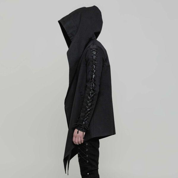 Punk Rave Jacke mit Kapuze im Post Apocalyptic Style