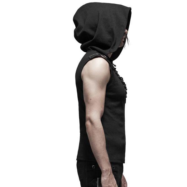 Oversize Hoodie Top im Industrial Style mit Schnürung