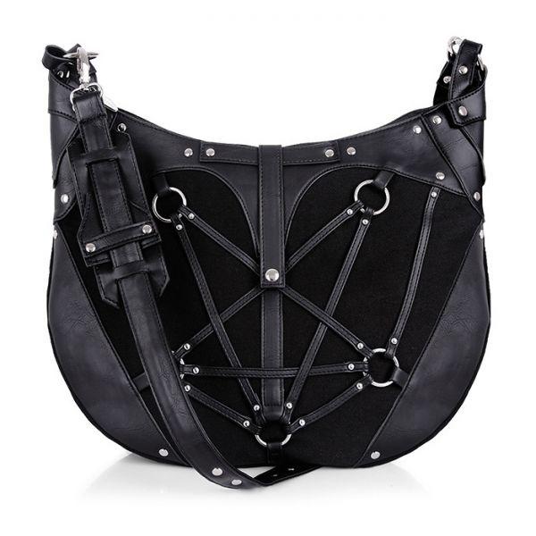 Schultertasche im Gothic Style mit Pentagramm